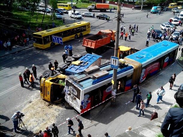 аварія, ДТП, тролейбус
